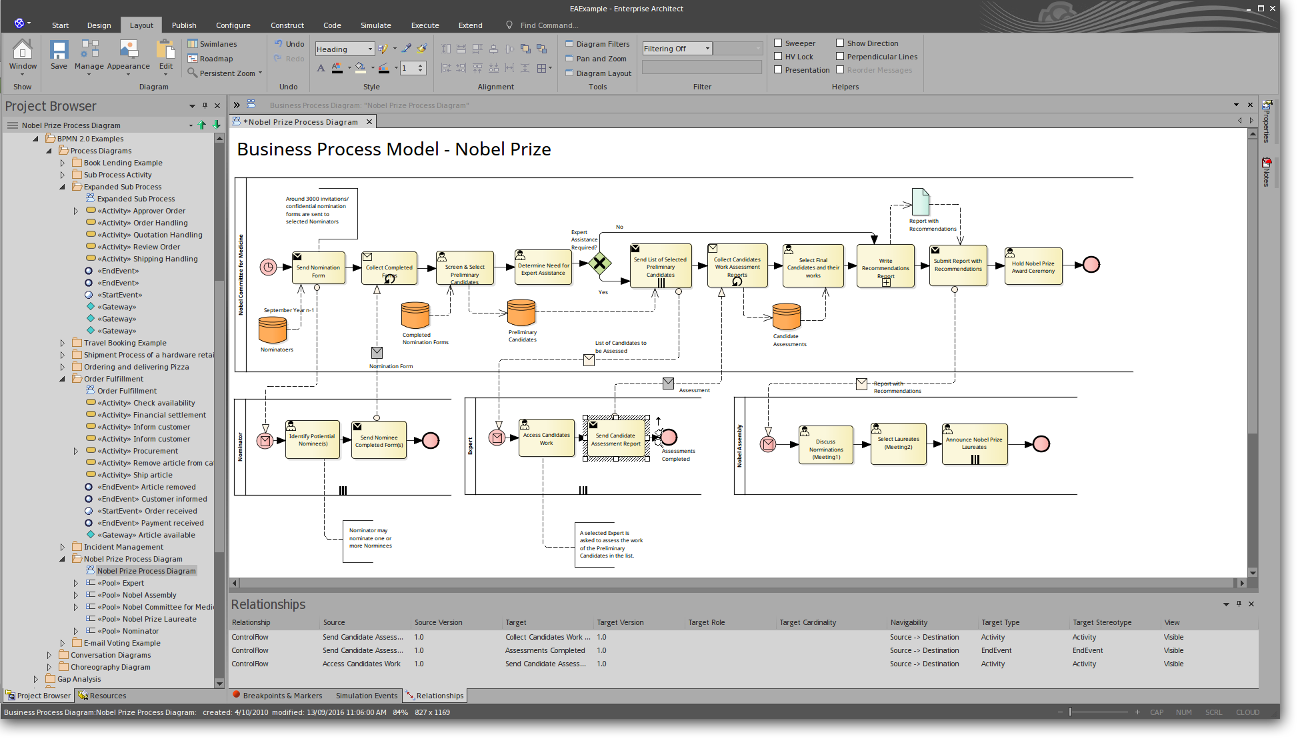 Enterprise Architect: Business Process Modeling
