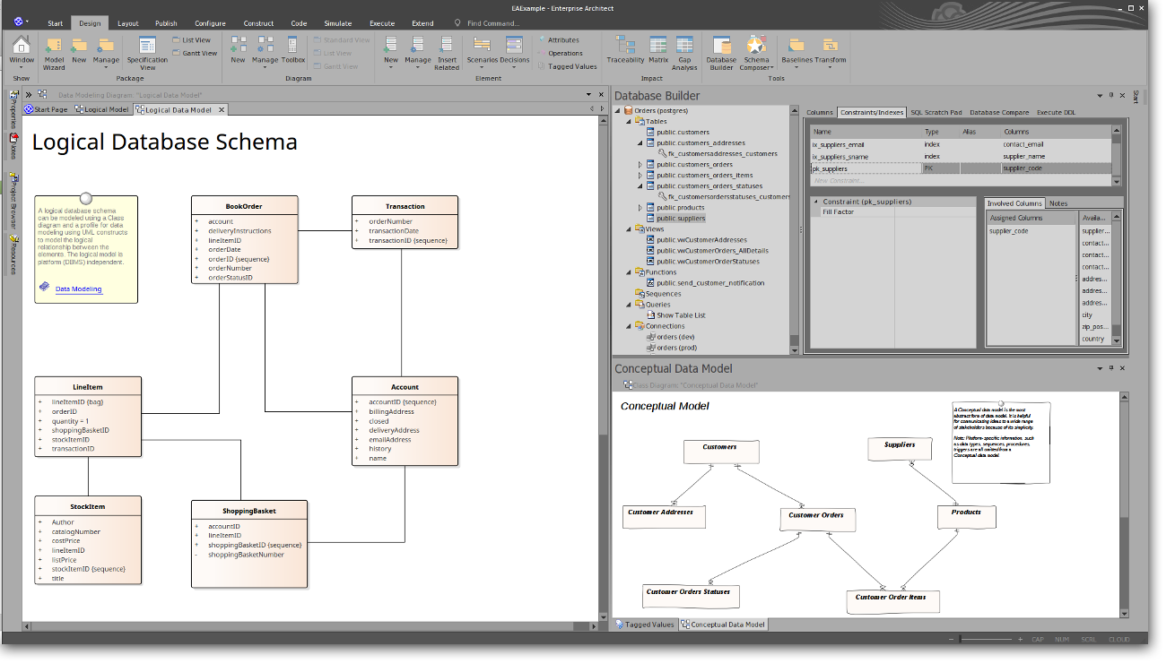Enterprise Architect: Powerful Database Modeling - Logical Database Schema